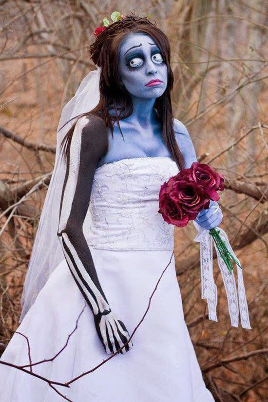 Clothing, 11 Ideas for Scary Amazing Halloween Costumes 2012 : Tim Burton's  Corpse Bride For Halloween