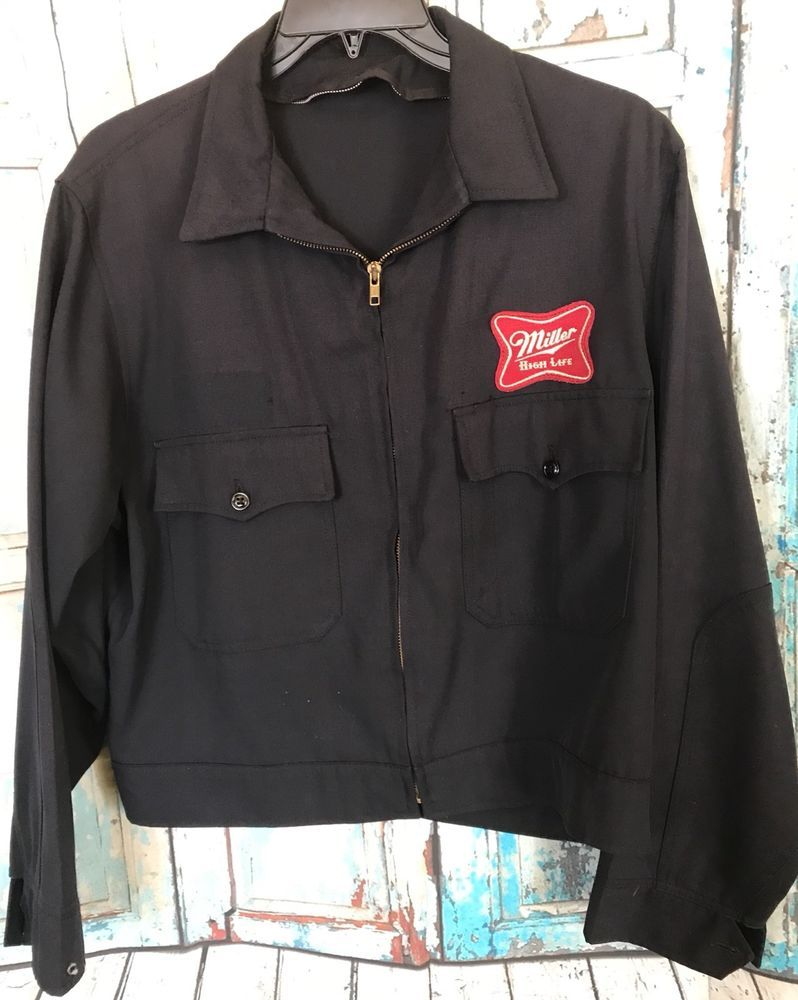 d09ab3c1e Vintage Miller High Life Beer Uniform Jacket Mens 44R USA Made ...
