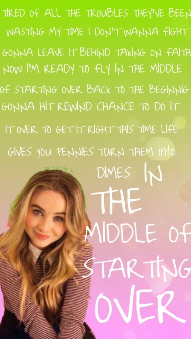 Lyric mc magic girl i love you lyrics : Middle of Starting Over lyrics | sabrina carpenter | Pinterest ...