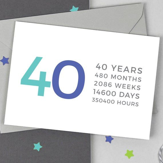 Funny 40th Birthday Card 40 Years 40 Card In 2021 40th Birthday Funny 40th Birthday Cards Birthday Cards