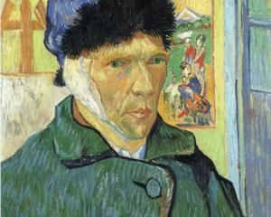 Self Portrait with Bandaged Ear. Post impressionism