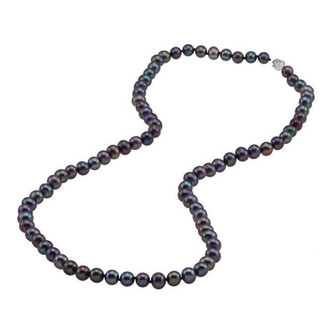 DaVonna Silver FW Pearl 24-inch Necklace
