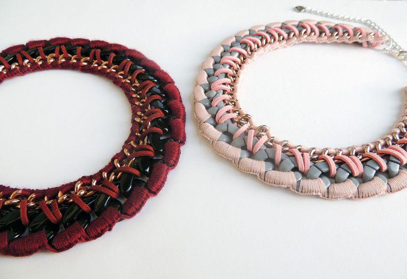 Maroon Halskette, Burgunder Halskette von Lanche Jewelry auf DaWanda.com