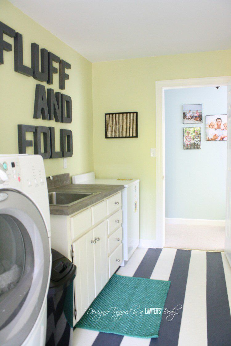 Tour My Home full of DIY Home Decor Projects   Painted vinyl floors ...