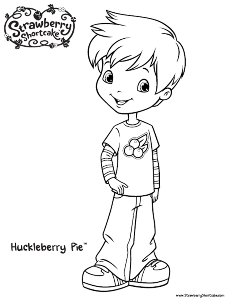 strawberry shortcake coloring pages characters - photo#10