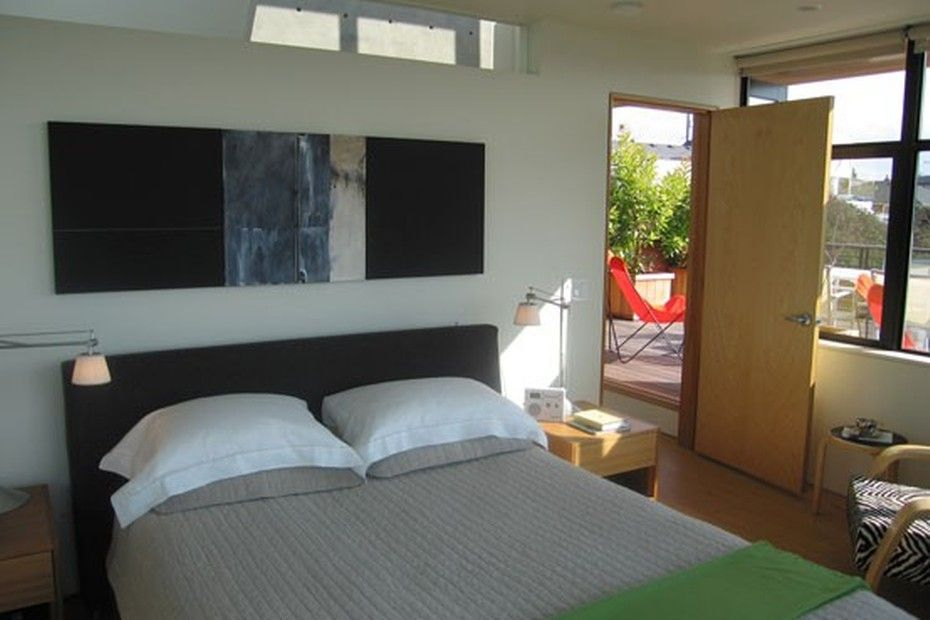 Clean and simple modern bedroom design. Discovered on search.porch.com. #interiordesign #interiors #design #decor #modern