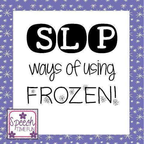 Speech Time Fun: SLP ways of using FROZEN!!