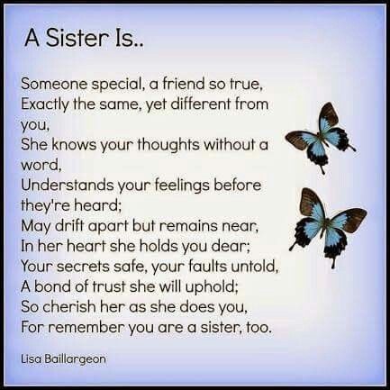 I miss you so much Sis, I feel lost without you and at times ...