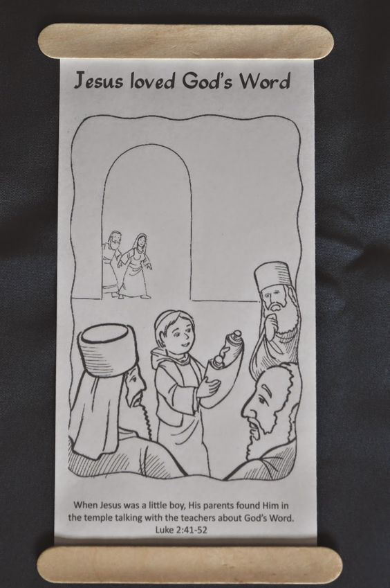 The Boy In Temple Scroll Coloring Page