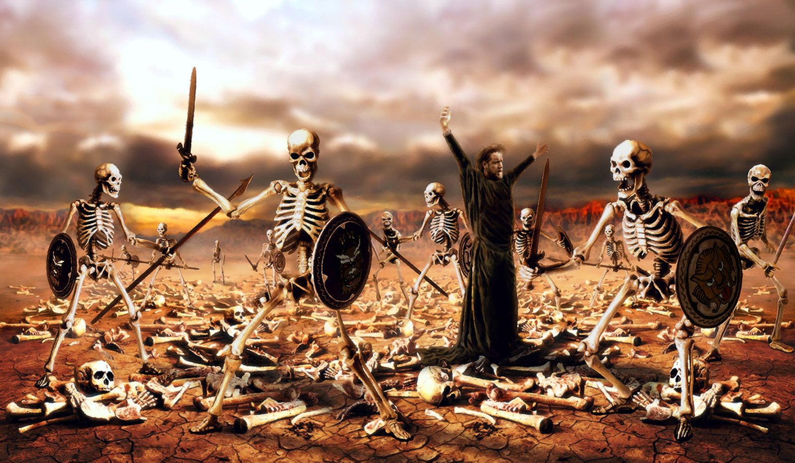 Image result for prophetic art dry bones to life