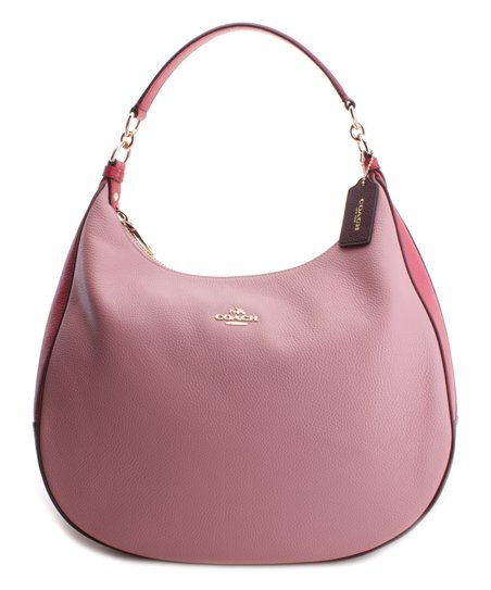 Coach Strawberry   Oxblood Colorblock Harley Leather Hobo   zulily Oxblood,  Cosmetic Bag, Color 9828112b65
