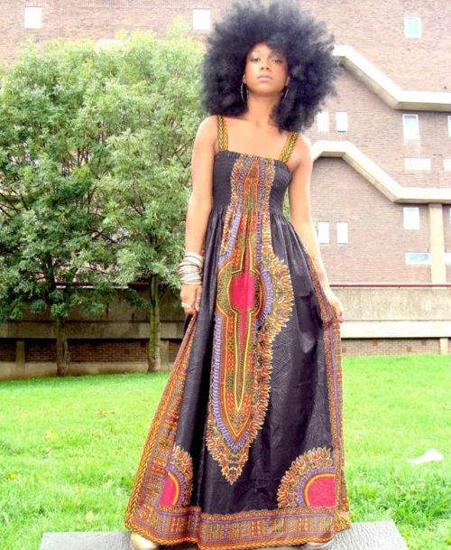 Beautiful African American Women Natural Hair And Prom Dress 2015