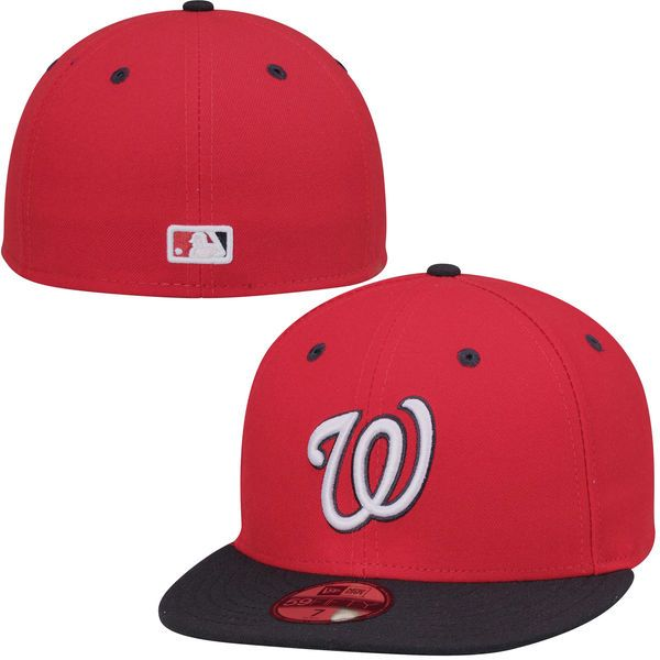 5b0e59f989a0b Men s Washington Nationals New Era Red Authentic Collection On-Field  59FIFTY Performance Fitted Hat - Alt 2