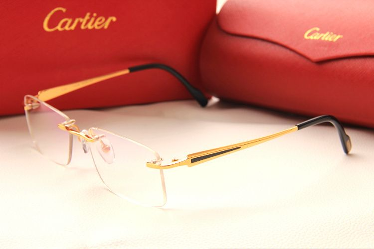 Cartier Eyeglasses Frames Mens : Model:3139952 2014 Cartier optical frame titan 24k gold ...