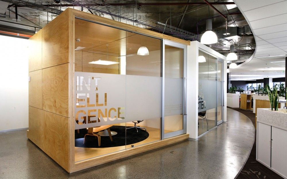 b6715b05a Isis Australian Offices - box within a space - this could be an idea for  little office or  escape  pods... we could build them ourselves.