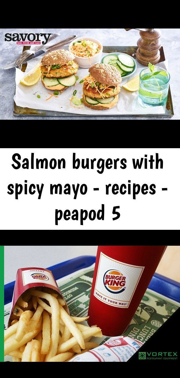 Photo of Salmon burgers with spicy mayo – recipes – peapod 5 –  Salmon Burgers with Spicy…