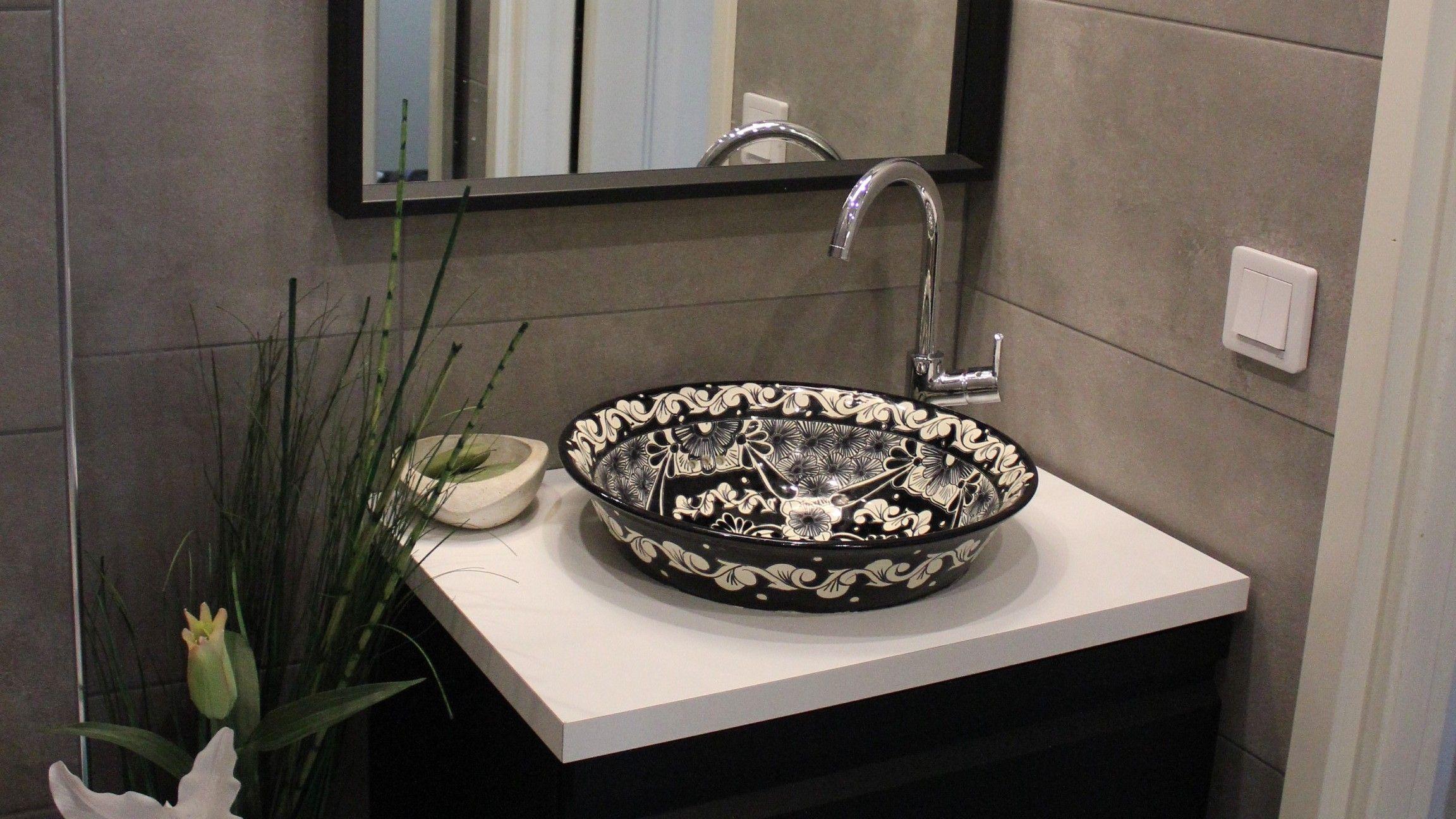 Mexikanische Waschbecken Badezimmer Ideen Szchwarz Talavera Waschbecken Aus Mexiko Haus Badezimmer Design Modern Mexikanische Waschbecken Bad Umywalka