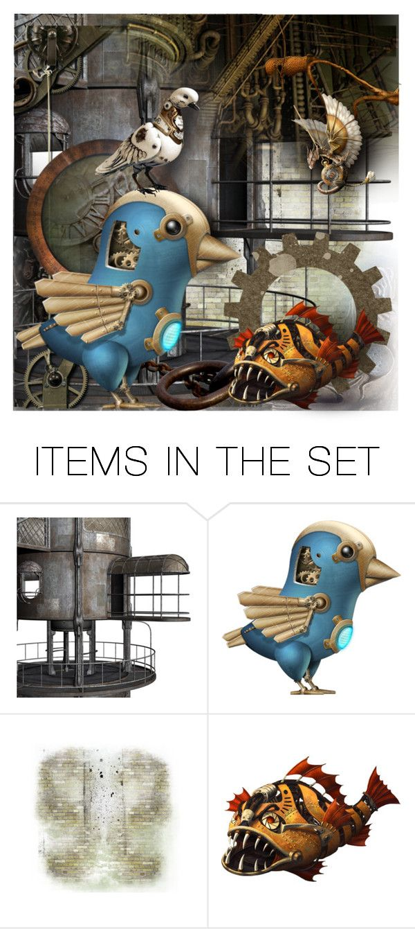 """Steampunk Pets"" by jill-bh ❤ liked on Polyvore featuring art"
