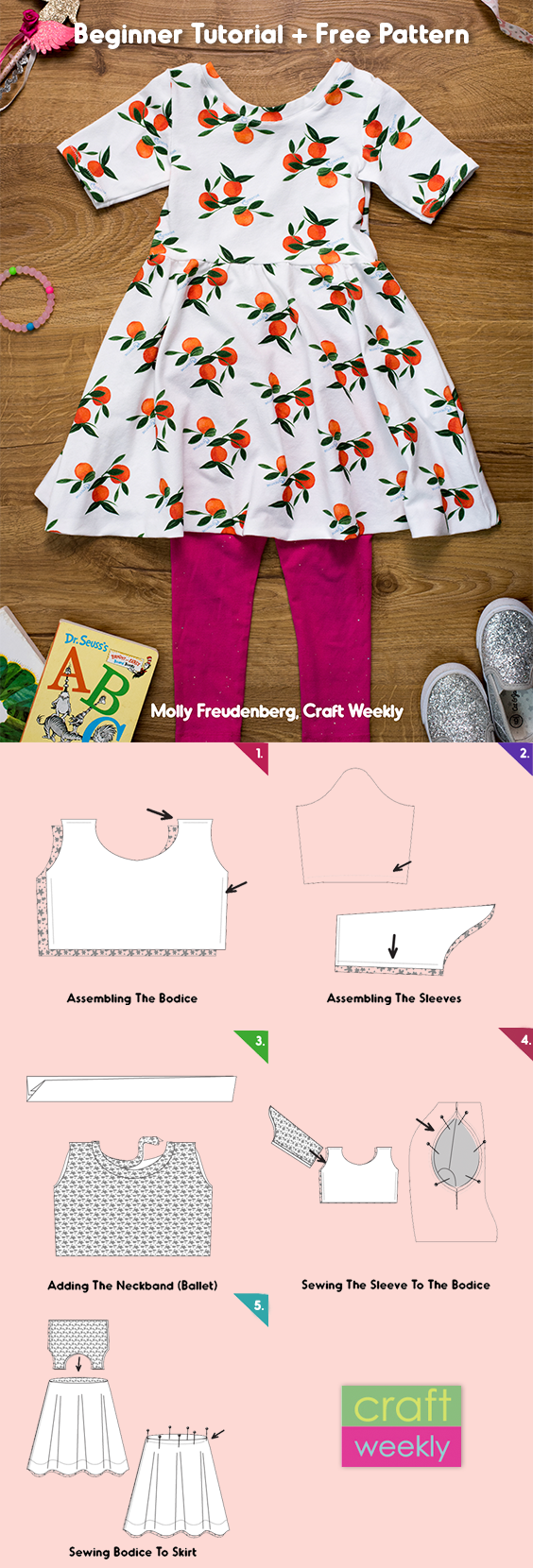 How To Make A Dress Step-By-Step + Free Sewing Pattern