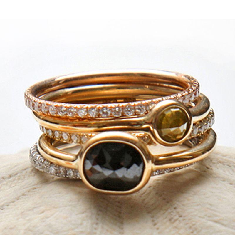I am loving these unusual gemstone rings from @Aroc Urtu ...