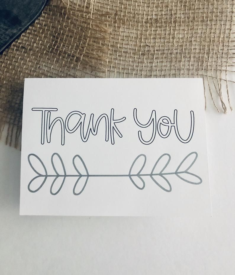 Thank You Cards 10 Pack Simple Handmade 4x6 Blank Cards Etsy Blank Cards Thank You Cards Thanksgiving Cards