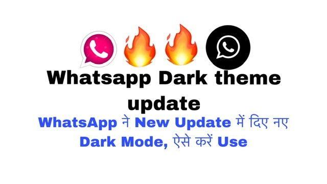 #whatsapp #theme #update #feature #darkmode