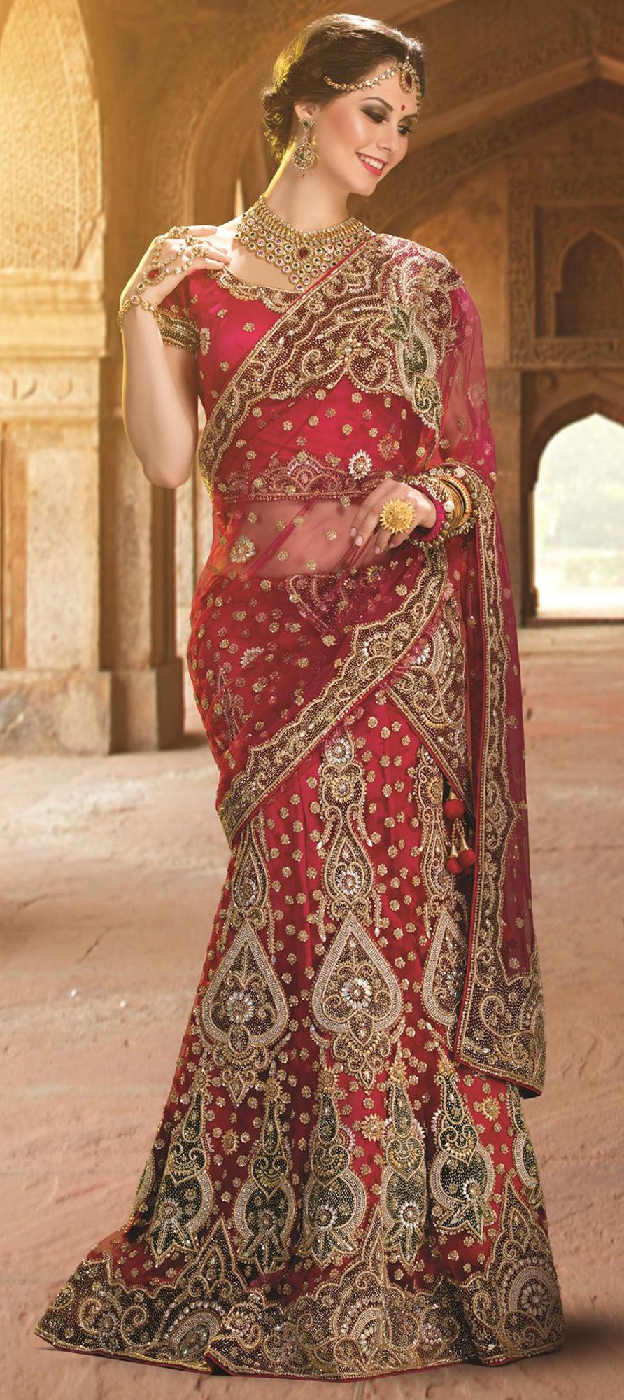 175387: Orange,Red and Maroon color family Bridal Lehenga,Wedding ...
