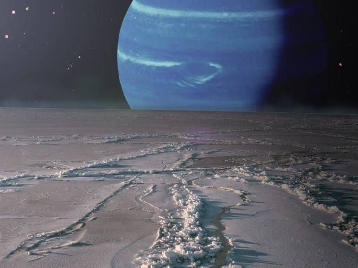 Surface of neptune