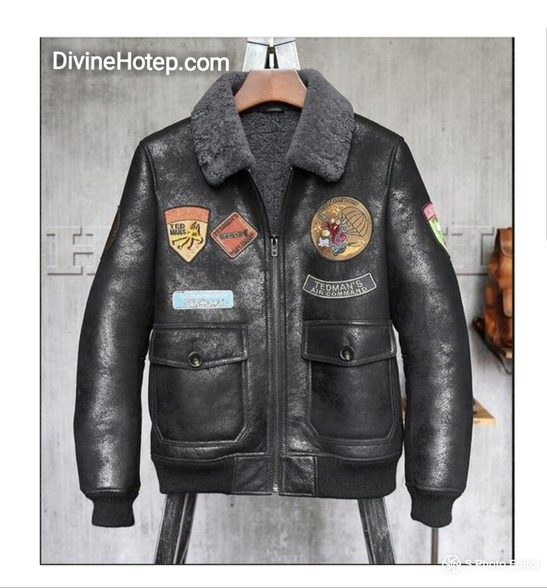 Genuine Leather Bomber Leather jacket, Pilot leather