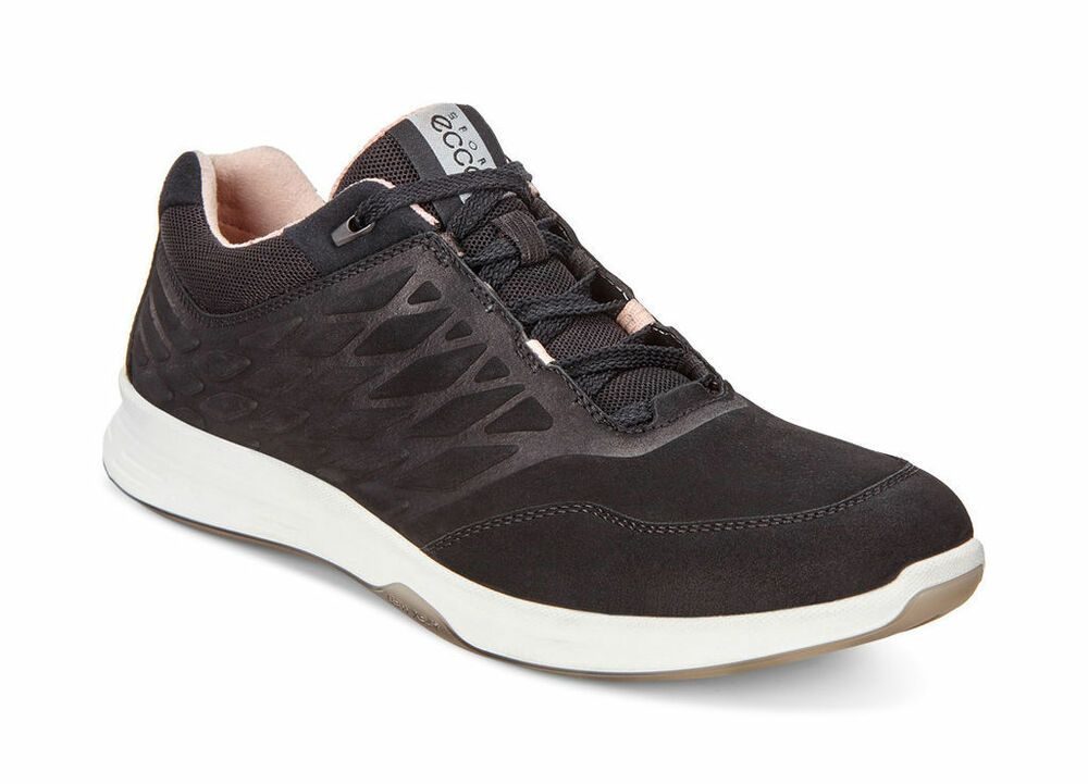 ECCO Exceed Low Leather Trainers Black