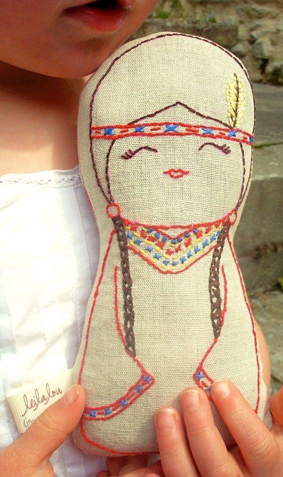 what a beautiful handmade doll.