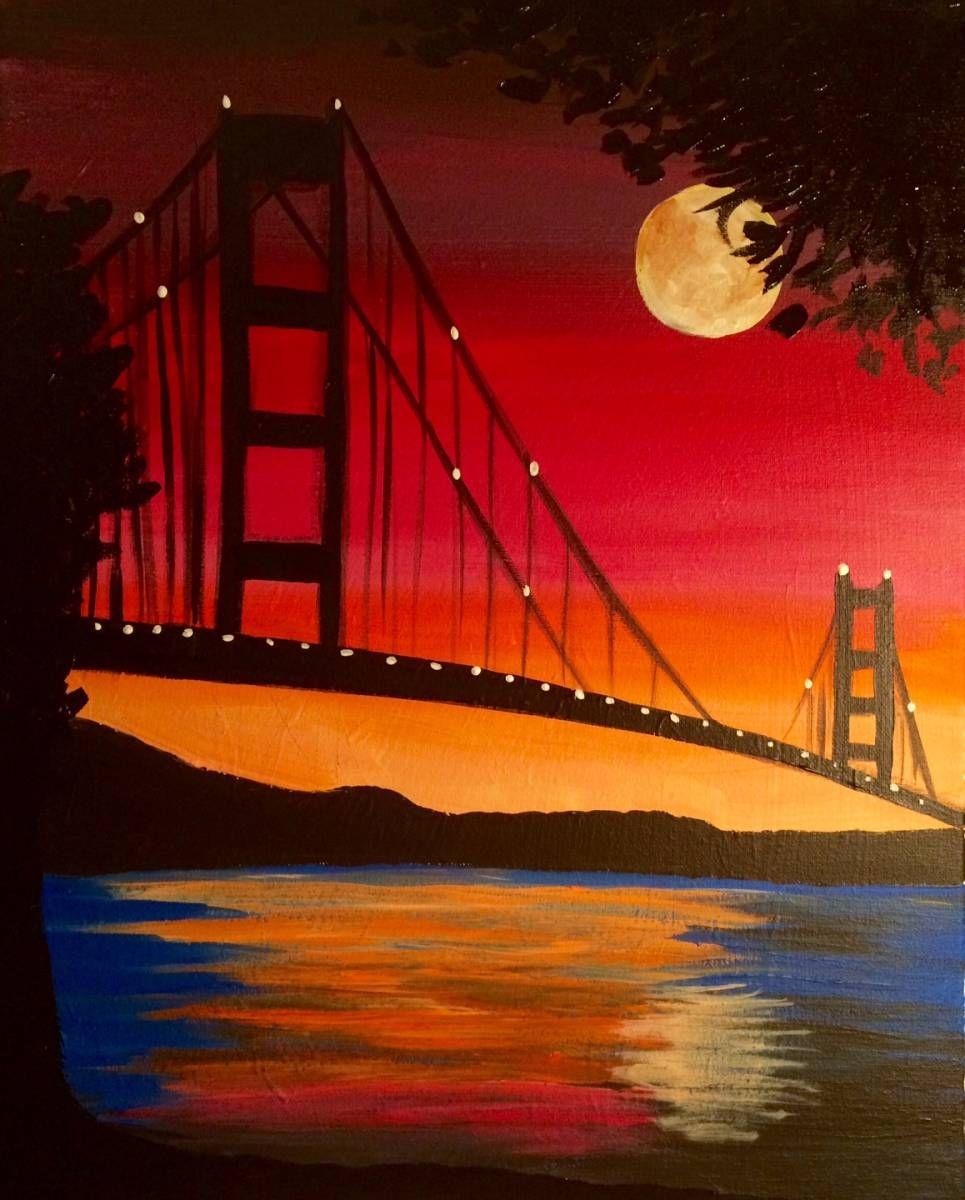 Enchanted Bridge Nature Art Painting Simple Acrylic Paintings Canvas Art Painting