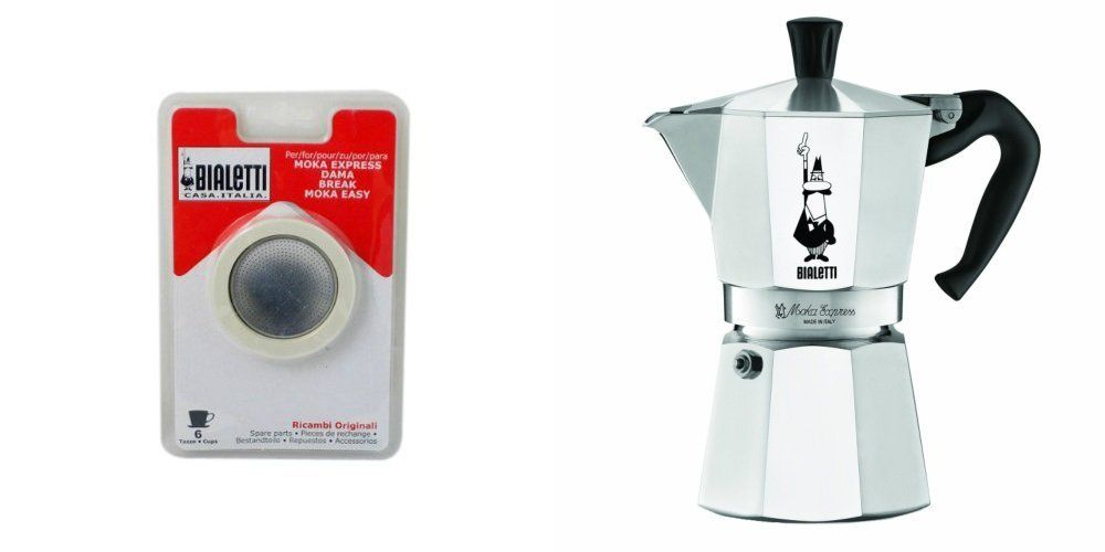 Bialetti 6800 Moka Express 6 Cup Stovetop Espresso Maker W Replacement Gasket And Filter For Learn More By Visiting The Image Link