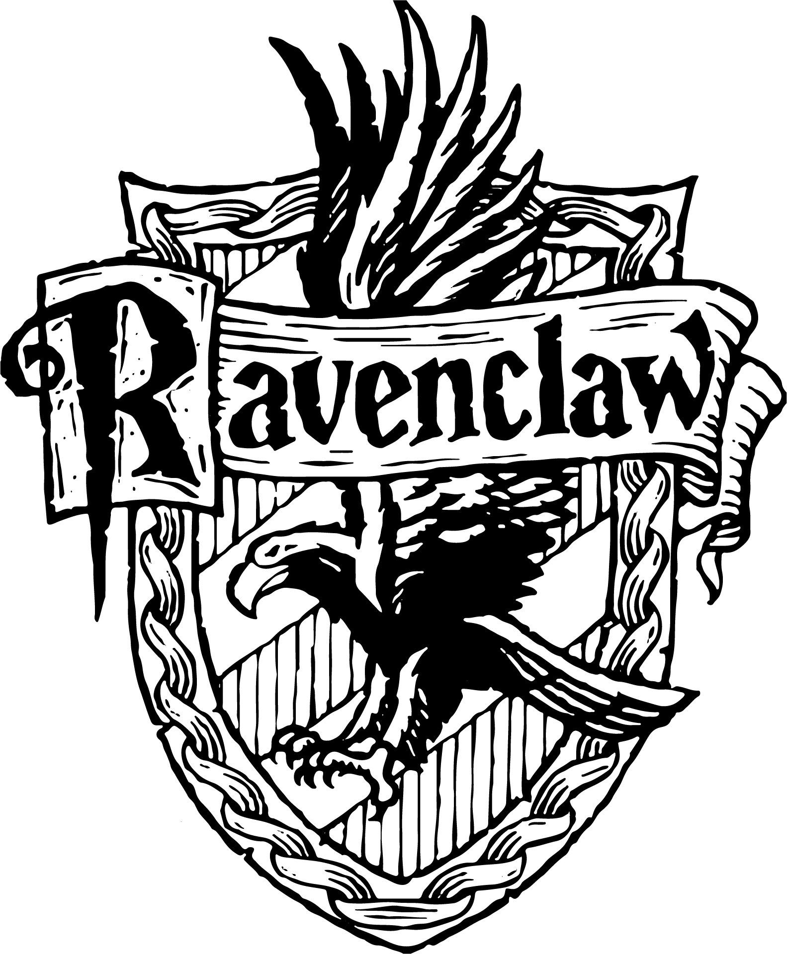 ravenclaw harry potter svg badge for cricut digital