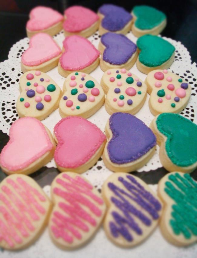 corazones de galleta / corazones / cookies
