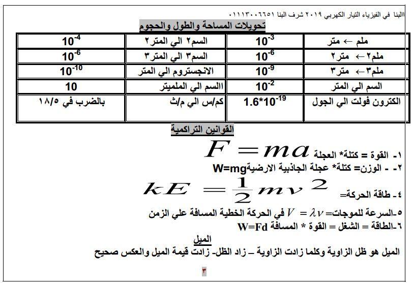 مذكرة فيزياء للصف الثالث الثانوى 2020 Sheet Music Periodic Table Exam