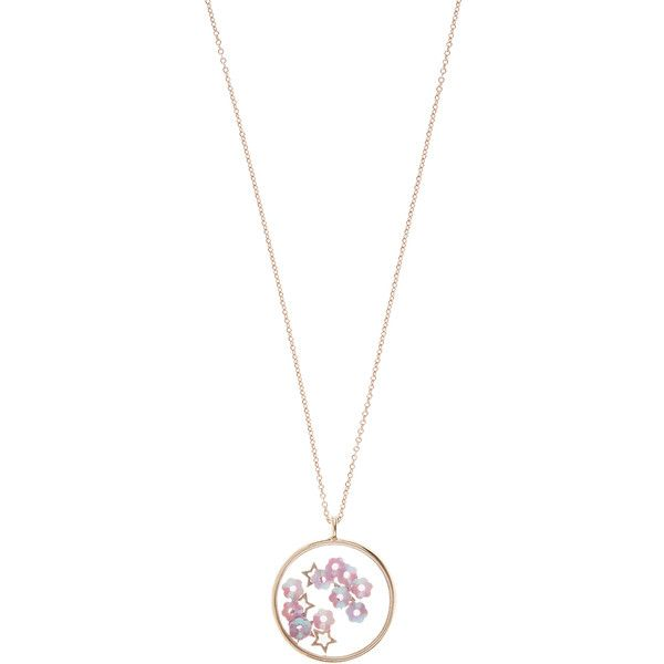 Accessorize Sequin Disc Long Pendant Necklace ($12) ❤ liked on Polyvore featuring jewelry, necklaces, long pendant, flower pendant necklace, disc necklace, long pendant necklace and long necklace pendant
