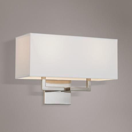 George Kovacs Rectangle Nickel 11 High 2 Light Wall Sconce 07728 Lamps Plus Bathroom Wall Sconces Wall Sconce Hallway Bronze Wall Sconce George kovacs wall sconces