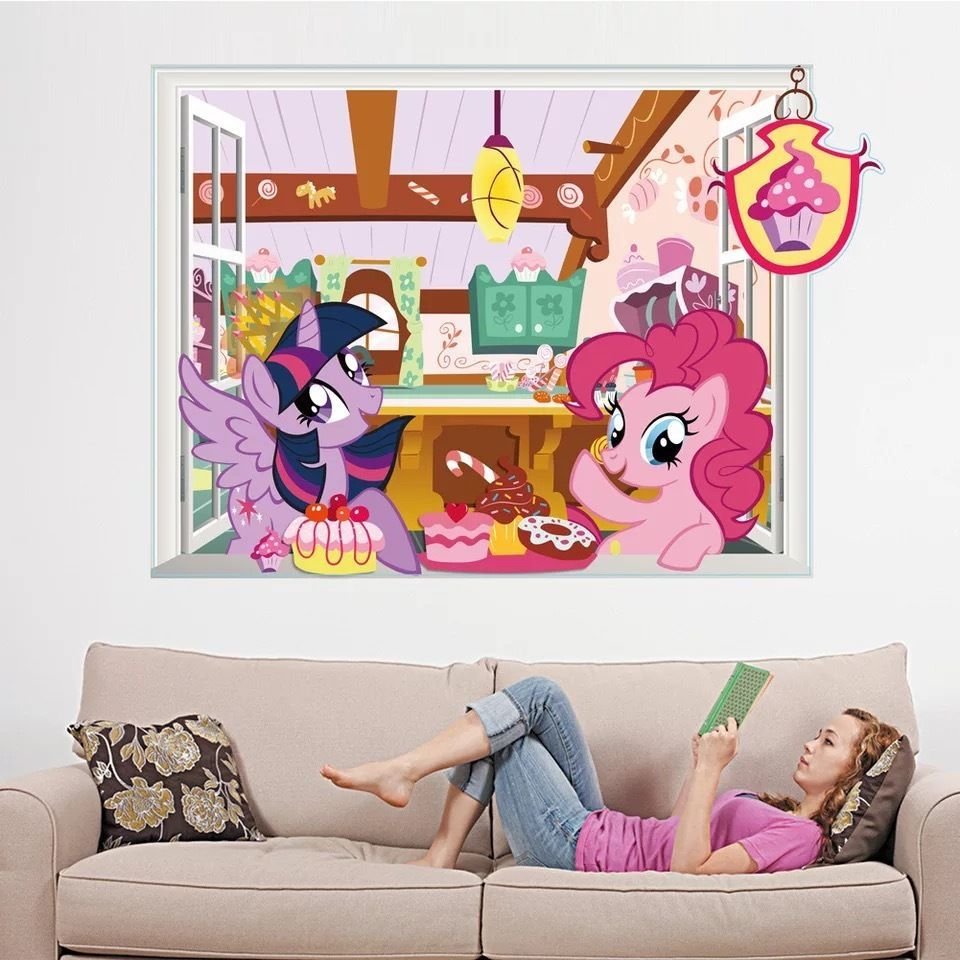 my little pony kids boy girls color bedroom vinyl decal on wall stickers for kids id=97218
