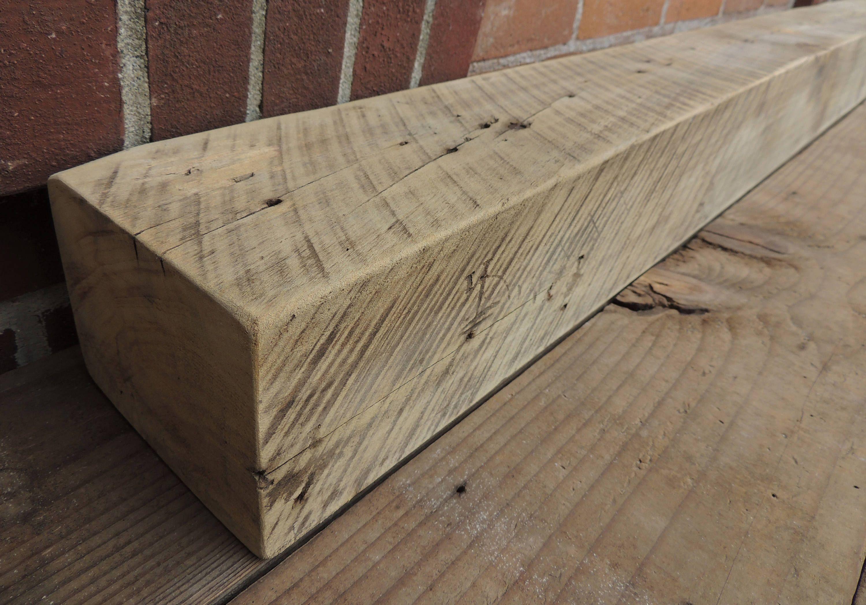 Reclaimed Wood Fireplace Mantel 64 X 6 X 5 Rustic Barn Beam