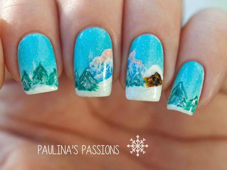 Winter Nails Winter Wonderland Landscape Pinterest Winter