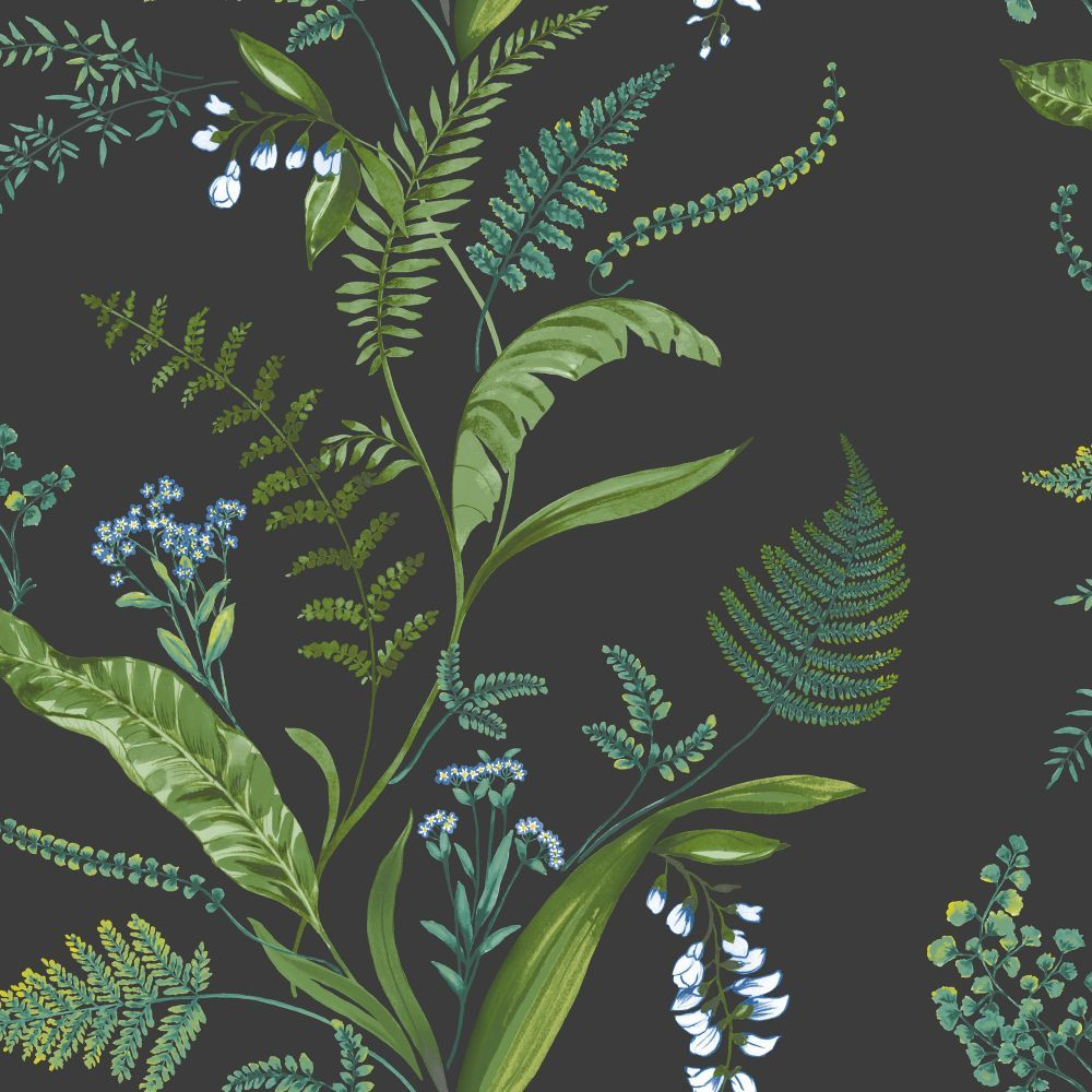 Cembra By Albany Charcoal And Green Wallpaper 98545 In