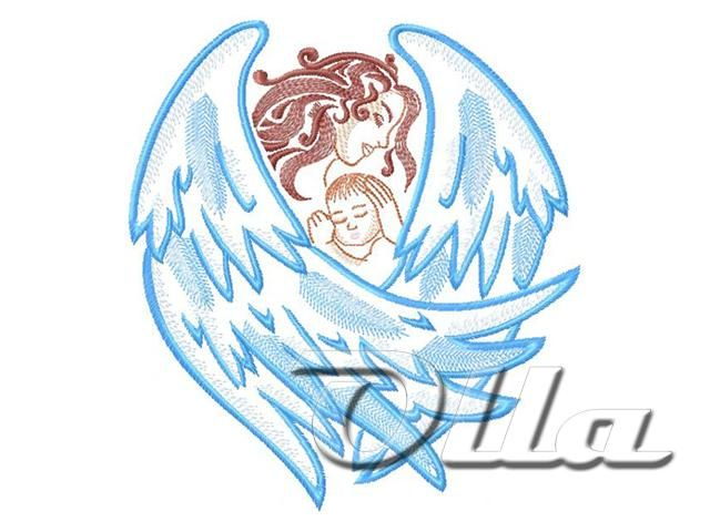 Machine Embroidery - Guardian Angel - WINGS