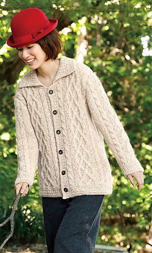 Aran Cardigan Knitting Patterns, free pattern | Easy scarf ...