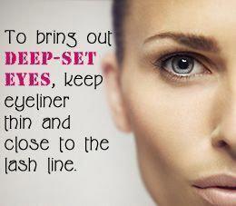 new black eye makeup blackeyemakeup  deep set eyes