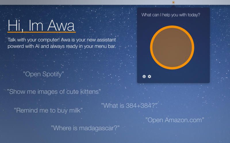 Awa is a new AI voice assistant for Mac OS X | Apple News