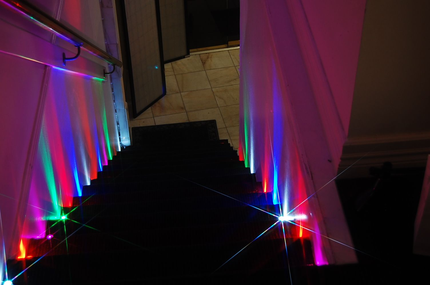 Amazing Party lighting Idea. Party Dots on the stairs. Fun and easy on easy water garden ideas, easy pool landscaping ideas, easy kitchen ideas, easy tips, easy outdoor lighting, easy awning ideas, easy cleaning ideas, easy insulation ideas, easy garden decor ideas, easy color ideas, easy bathroom ideas, easy rope light ideas, easy food ideas, easy shed ideas, easy travel ideas, easy jewelry ideas, easy tile ideas, easy decorating ideas, easy home ideas, easy advertising ideas,