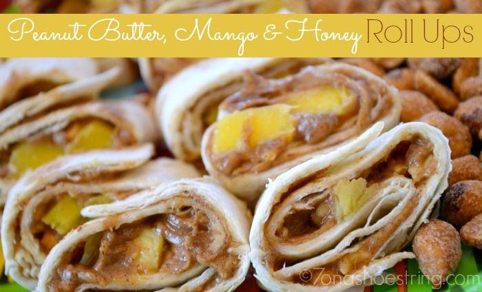 Peanut Butter, Mango and Honey Roll Ups #recipe