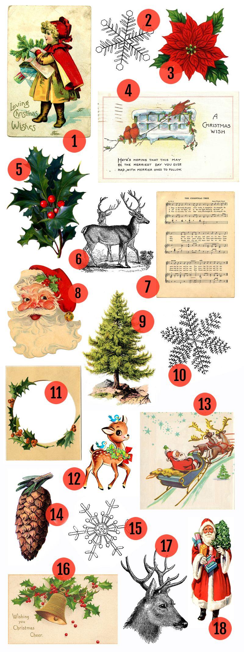 Free Christmas Printable & Vintage Christmas Clip Art | Christmas ...