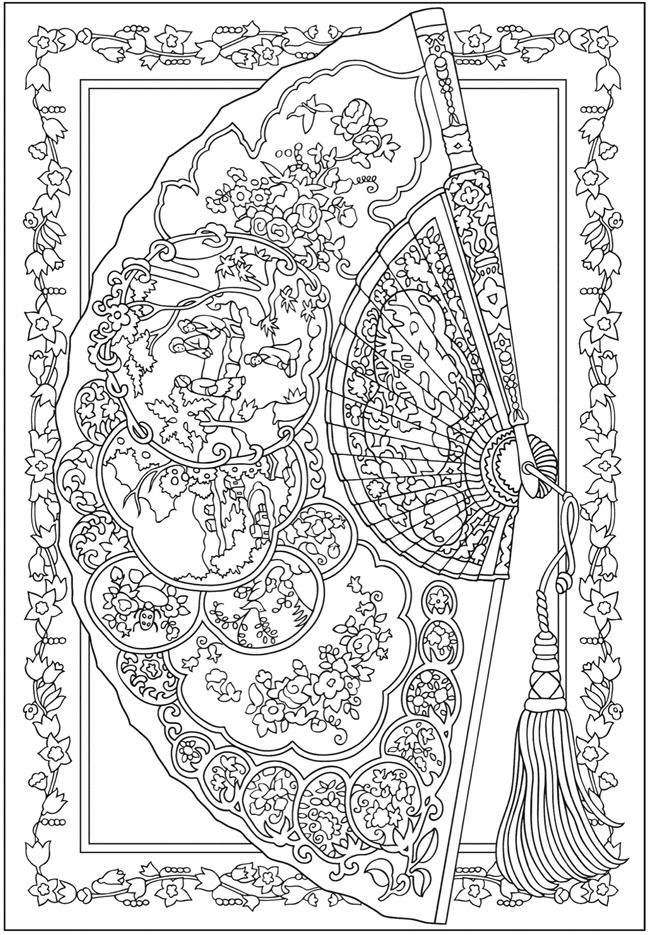 welcome to dover publications creative haven vintage hand fans coloring book - Dover Publishing Coloring Books